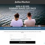 Win a Summer Gift Pack incl a $1,000 VISA Gift Card or 1 of 10 $50 Julius Marlow Vouchers from Brand Collective Pty Ltd