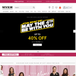 Free Shipping (No Minimum Spend) @ Myer