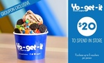[SA & VIC] Yo-Get-It - $9 for $20 to Spend on Self-Serve Frozen Yoghurt in One Visit @ Groupon