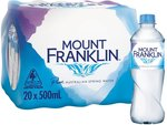 Case of Mount Franklin Still Water $6.25 Delivered - 20x 500ml @ Amazon AU