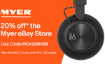 20% off @ Myer eBay (Limit 1 Transaction) e.g. Breville Smart Grinder or Bose Soundlink Mini II $159.20, Bose QC25 $199.20