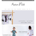 25% off EOFY SALE @ Aster & Oak Organic Baby and Kids Clothing