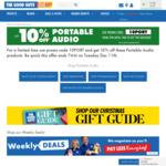 10% off Portable Audio @ The Good Guys