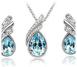 Crystal Jewelry Set - Austria Crystal Drop Necklace and Earring AUD $7.38 / US $4.95 Shipped from LITB