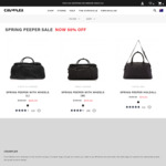 50% off Selected Crumpler (Spring Pepper) Check in Luggage $224, Cabin Luggage $175, Duffel Bag $75