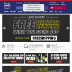 $10 off $50+ Spend (Second and Subsequent Orders) @ First Choice Liquor
