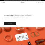 MYER Credit Card - 10,000 MYER One Points (Worth $100) and No Annual Fee for First Year, No Minimum Spend