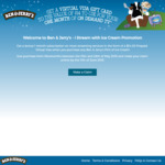 Bonus $14 Virtual Visa Gift Card with Ben & Jerry's Ice Cream Pint ($9) @ Woolworths