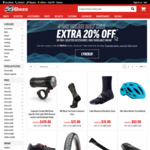 20% off Selected Items for Four Days at 99bikes.com.au - Online Only (Membership Required)