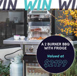 Win a Two-Burner BBQ with Drinks Fridge Worth $2,199 from Hussh [VIC]