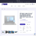 "New HP ENVY X360 15-CP0014AU Ryzen 3 8GB 256GB SSD 1TB HDD 15.6"" Touch Windows 10 Pro $1,499 Shipped @ Zaptech"