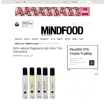 Win a Selection of Natural Fragrance Oils from The Raconteur Worth $350 from MiNDFOOD