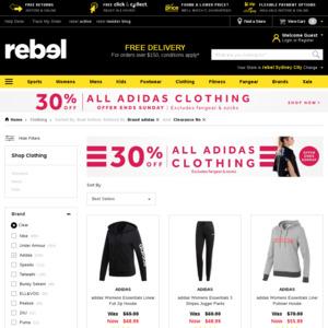 30% off All adidas Clothing @ rebel OzBargain