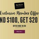 $20 off $100 Spend | $10 off $50 Spend @ My Dan Murphy's
