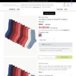 10 Cotton Socks $9 + $5 Delivery @ Marks & Spencer