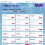 Virgin Aus Happy Hour: Bris to Vanuatu $499 Return, Canberra to Brisbane $139, Melbourne <> Sydney $119 @ Virgin Australia