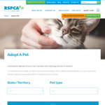 $29 for Any Puppies, Dogs, Kittens, Cats, Horses, Sheep and Rabbits @ RSPCA (Excludes TAS)