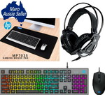 HP Gaming Keyboard Mouse MousePad Headset Combo $79 Delivered @ Maro Online Shop (RRP $111)