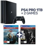 PlayStation 4 Pro 1TB Console + 2 PlayStation 4 Hits Games $439 @ EB Games