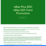 Sign up to eBay Plus ($49/Year) & Get a $50 eBay Digital Gift Card