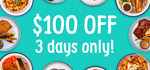 [NSW] $20 off 5 consecutive orders = $100 OFF | Extended to 9th of May (Sydney Delivery Only) @ Oodee
