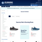 40% off Saucony Running Shoes at Running Warehouse. Kinvara 11 $119.94, Triumph 17 $149.95, Freedom 3 $149.95. $5 Postage