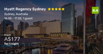 5-Star Hyatt Regency Sydney from $179 for a King Room, with Free Cancellation