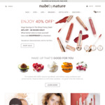 40% off (Excludes Sale and Kits) Free Shipping with $50 Order @ Nude by Nature
