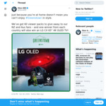 """Win an LG CX 65"""" 4K OLED TV Worth $5,399 or 1 of 60 Merchandise Packs from Microsoft"""