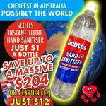 [QLD] Scott's Hand Sanitizer 1L $1 @ Tribe of Judah (Logan)