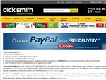 DickSmith: Choose PayPal and Get Free Delivery on Purchases over $15