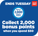 2000 Bonus flybuys Points (Worth $10) with $50 Online Spend @ Liquorland