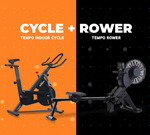 Tempo Spin Bike and Rower $999 (RRP $1198) Delivered @ Johnson Fitness Australia