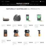 Free Shipping on All Items @ Rufus & Coco