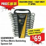 Gearwrench LE Black 12 PIECE Metric Ratcheting Spanner Set 9412BE $69 + Delivery or Store Pickup @ Total Tools