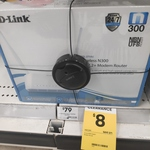 D-Link DSL-2750U Wireless N300 Adsl2+ Modem Router $8 ($79) @ BIG W