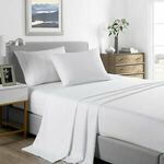 [eBay Plus] Royal Comfort 2000 Thread Count Polyester/Bamboo Cooling Sheet Set Ultra Soft Bedding $25 @ Grouptwowarehouse eBay