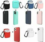 Combo iPhone + AirPods 1/2 Silicone Case Soft Gel Cover for Apple iPhone XR 12 Pro Max 11 X 8 SE 6 $6.99 Delivered @ MPM on eBay
