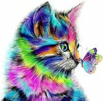 [Prime] Paint by Numbers Kit -Cat and Butterfly $16.99 (Was $23.99) Delivered @ Golden Maple Amazon AU