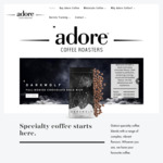 15% off Sitewide, 25% off $100 Order (Free Shipping with $30 Order) @ Adore Coffee Roasters