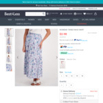 Women's Tiered Blue Floral Maxi Skirt $2.98 (was $25) + $3 Ship to Store or $10 Delivery @ Best & Less