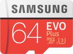 Samsung 64GB Micro SDXC EVO Plus Memory Card $10.20 + Delivery ($0 C&C) @ The Good Guys