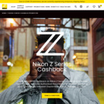 Nikon Z Series Bodies and Lens $100- $800 Cashback with Purchase from Authorised Reseller @ Nikon