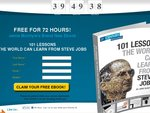 FREE PDF eBook Download: 101 Lessons The World Can Learn from Steve Jobs. Needs Personal Details