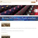 40% off Edwin Pireh Luxury Handmade Ties and Scarves!