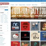 Busted Tees - 4 T-Shirts for $44 for 48 Hours + Free Shipping for Orders over $80