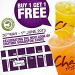 [VIC] Chatime Buy 1 Get 1 Free (Cold Drinks) May 30 - June 1 @ Swanston St Branch
