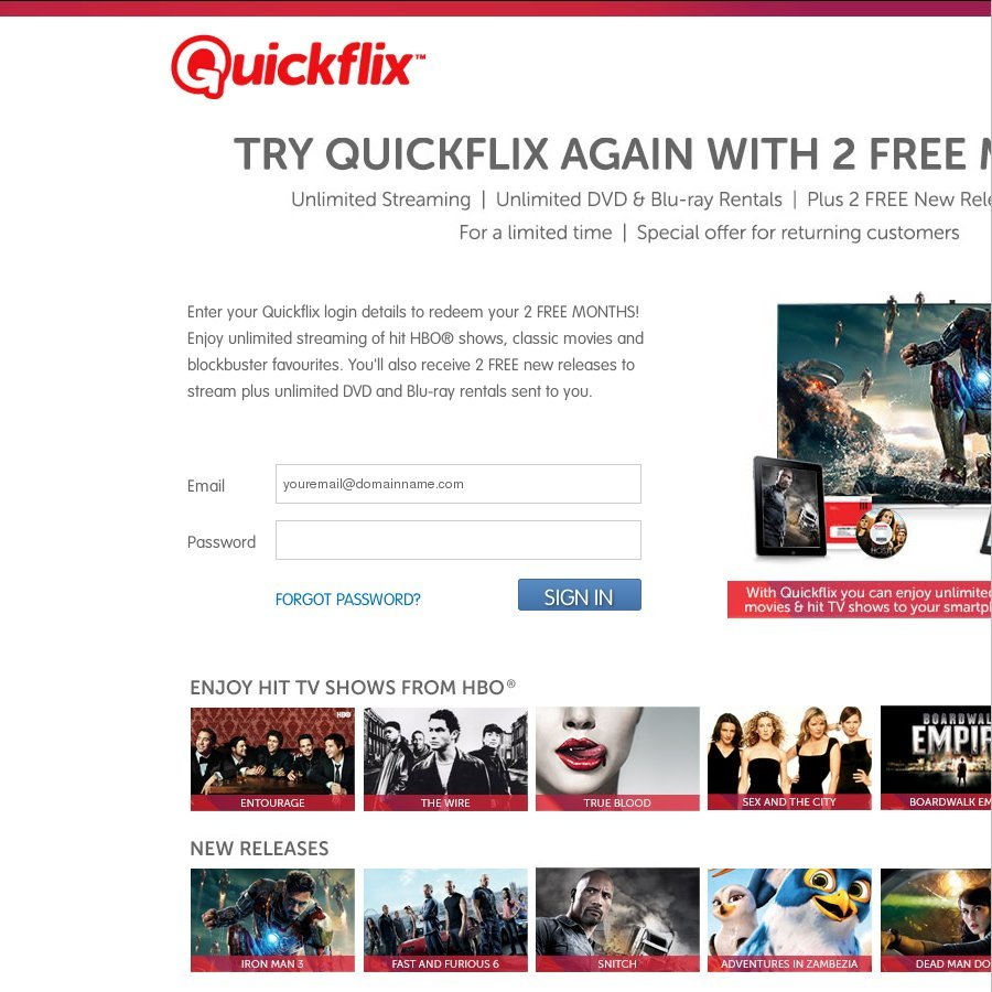 Cost of quickflix movies