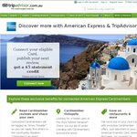 $5 Statement Credit for Connecting Your AmEx Card to TripAdvisor and Posting a Review