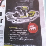 Ryobi ONE+ 18V Drill Driver Kit with 2 Li-Ion Batteries +100 Accessories $169 @ Bunnings